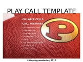 Program Starter Football Play Calling Template for Mac
