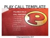 Program Starter Football Play Calling Template for Mac