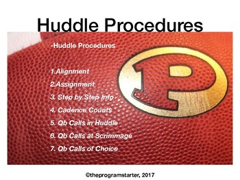 Program Starter- Huddle Procedures