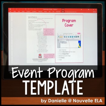 Program Template for Drama, Music, Graduations, and more