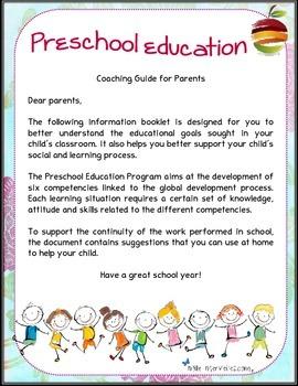 Program preschool for parents. Competency kindergarten.