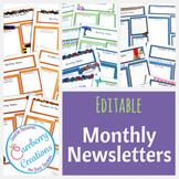 Newsletter Template: Seasonal Forms *EDITABLE*