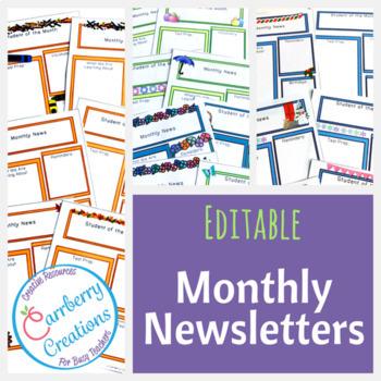 Editable Newsletter Template: Seasonal Forms