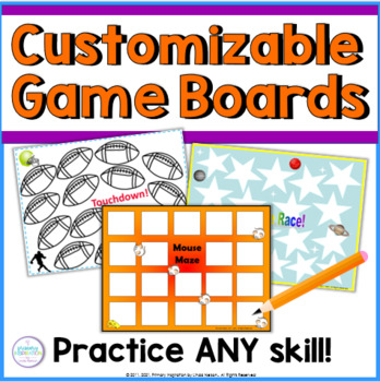 Blank Game Board Sets for K-1, 2-3, & 4-5