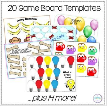 Blank Game Boards with Suggestions for Use in Gr.4-5 Classrooms