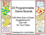 Blank Game Boards with Suggestions for Your K-1 Curriculum