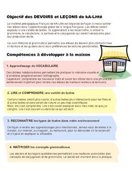 Programme de DEVOIRS & LEÇONS
