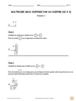 Programme de maths de 4ième année, vol 1, French immersion, (#161)