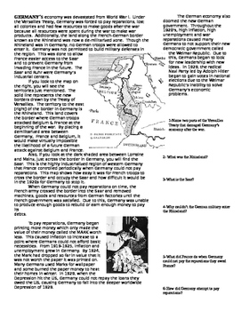 Programmed Reading Packet: Economic Depression in Europe & America 1920s & 30s