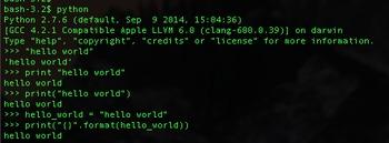 "Programming ""Hello World"" in Python"