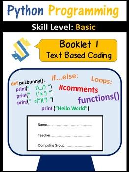 Python Programming - Coding Booklet 1 Editable (ISTE 2016 Aligned)