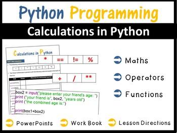Python Programming Coding - Lesson 2 Calculations