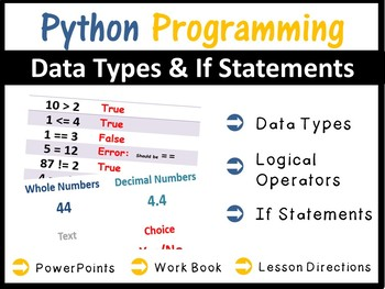 Python Programming Coding - Using Data Types & IF Statements