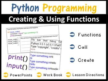 Python Programming Coding - Creating Functions
