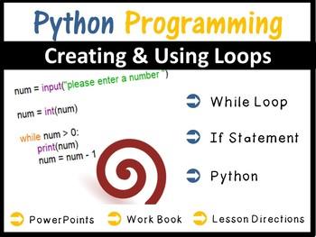 Python Programming Coding - Creating Loops