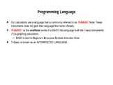 Programming on the TI-83+ Introduction