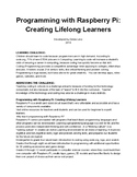 Programming with Raspberry Pi: Creating Lifelong Learners Part 1