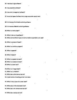 Programs and Applications Worksheet