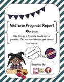 Progress Report First Grade