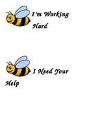 Progress Flip Cards - Bee Theme