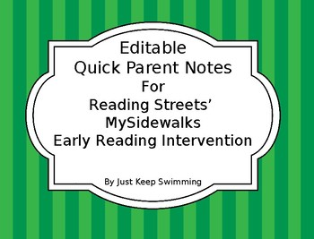 Progress Home Notes for MySidewalks ERI **100% Editable**