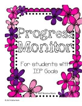 IEP Progress Monitor Data Collection Sheets