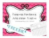 Progress Monitoring: Articulation Tracker