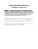 Progress Monitoring: Behavior Intervention Plans Progress Monitoring Google Form