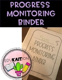 Progress Monitoring Binder for Special Education