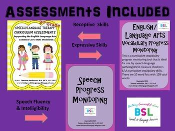 Progress Monitoring Bundle: Speech Language Therapy