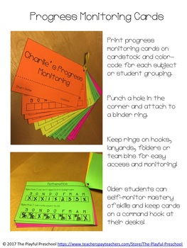 Progress Monitoring Cards