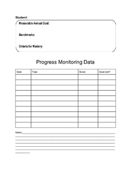 Progress Monitoring Data