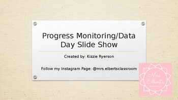 Progress Monitoring Data Day Directions