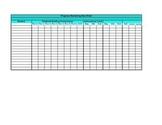 Progress Monitoring Data Spreadsheet