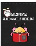 Progress Monitoring Developmental Reading Skills Checklist