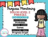Progress Monitoring {Dolch Level 2 Phrases) Assessments, Games, Printables