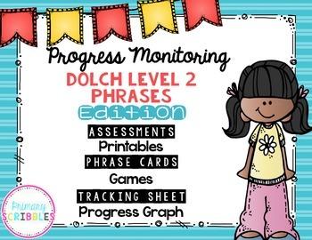 Progress Monitoring {Dolch Level 2 Phrases) Assessments, G