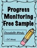 IEP and RTI Reading Progress Monitoring Freebie