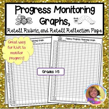 Progress Monitoring Graphs, Retell Rubric, and Retell Refl