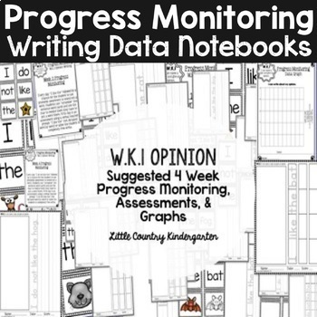 Progress Monitoring Tracking Sheets: Kindergarten Writing Data Notebook