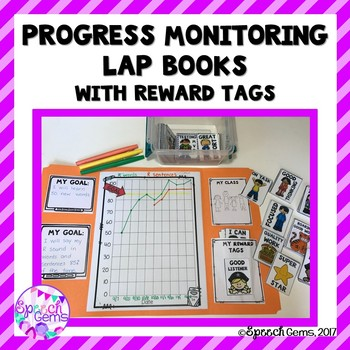 Progress Monitoring Lap Books for IEP goals with Brag Tags