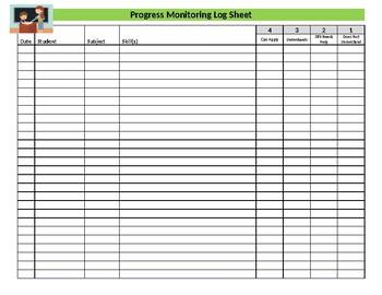 Progress Monitoring Log Sheet