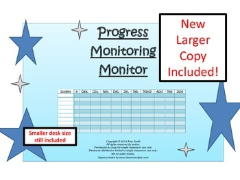 Progress Monitoring Monitor Revised (Pre-K through Adult, 1pg.)