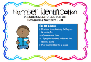 Progress Monitoring Number Identification 0 -10 for RTI