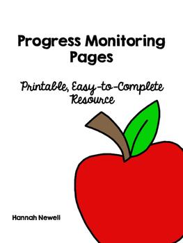 Progress Monitoring Pages