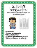 Progress Monitoring Quantity Discrimination 0 - 10 for RTI