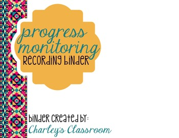 Progress Monitoring Recording Binder (Aztec Prints)