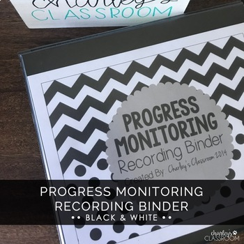 Progress Monitoring Recording Binder (Black & White)