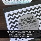 Editable IEP Progress Monitoring Binder (Black & White) |