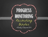 Progress Monitoring Recording Binder (Chalkboard) | Specia